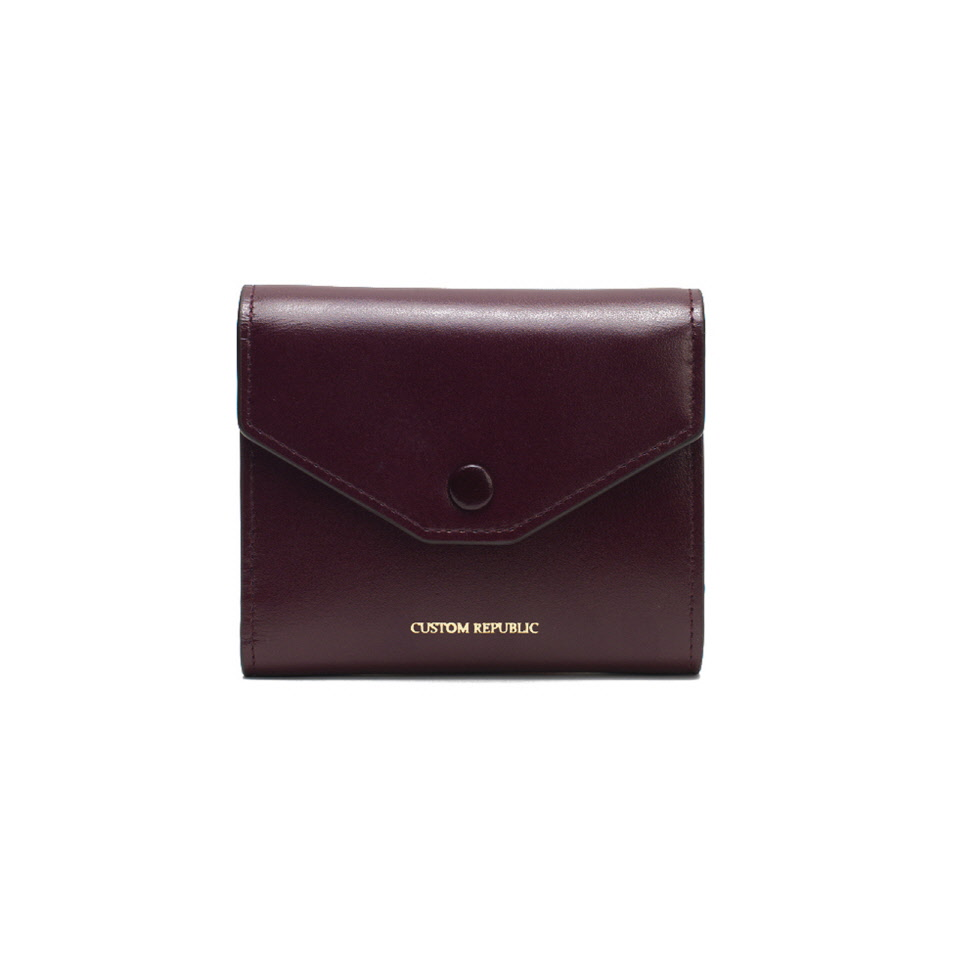 THREE FOLD WALLET LOWELL SECONDO MELOT BURGUNDY