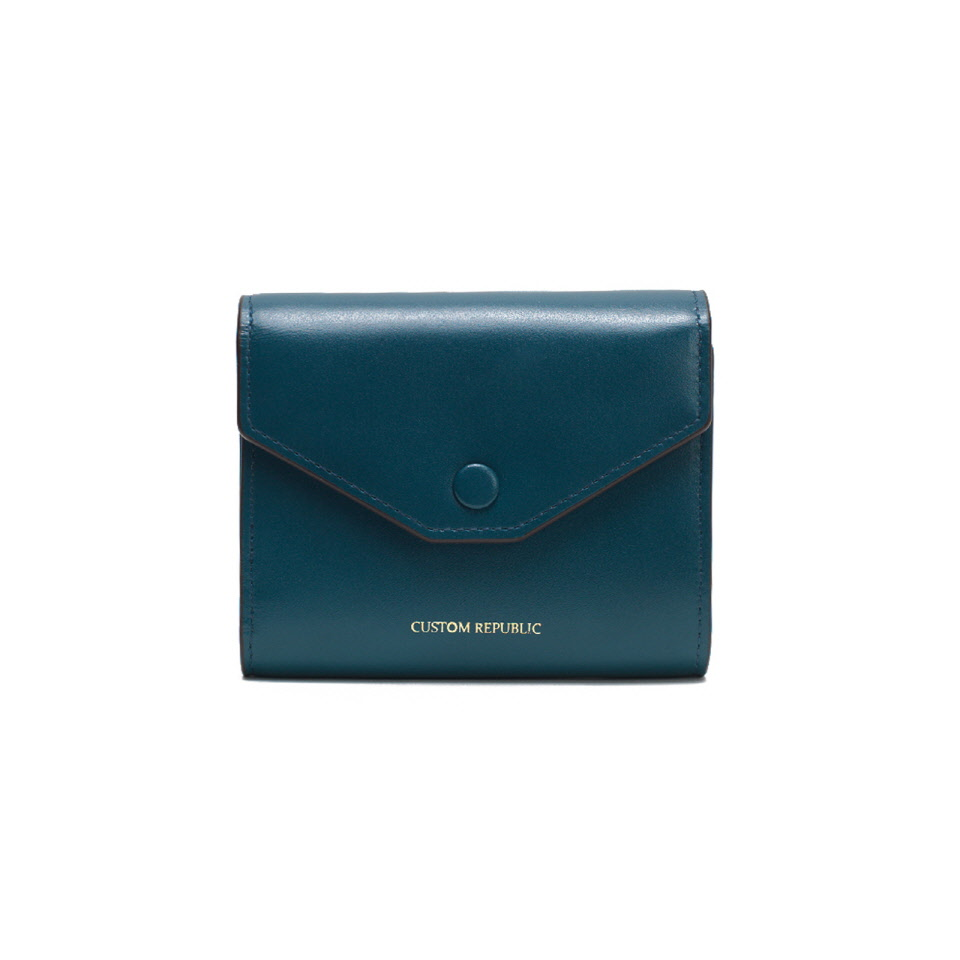 THREE FOLD WALLET LOWELL SECONDO MOROCCAN NAVY