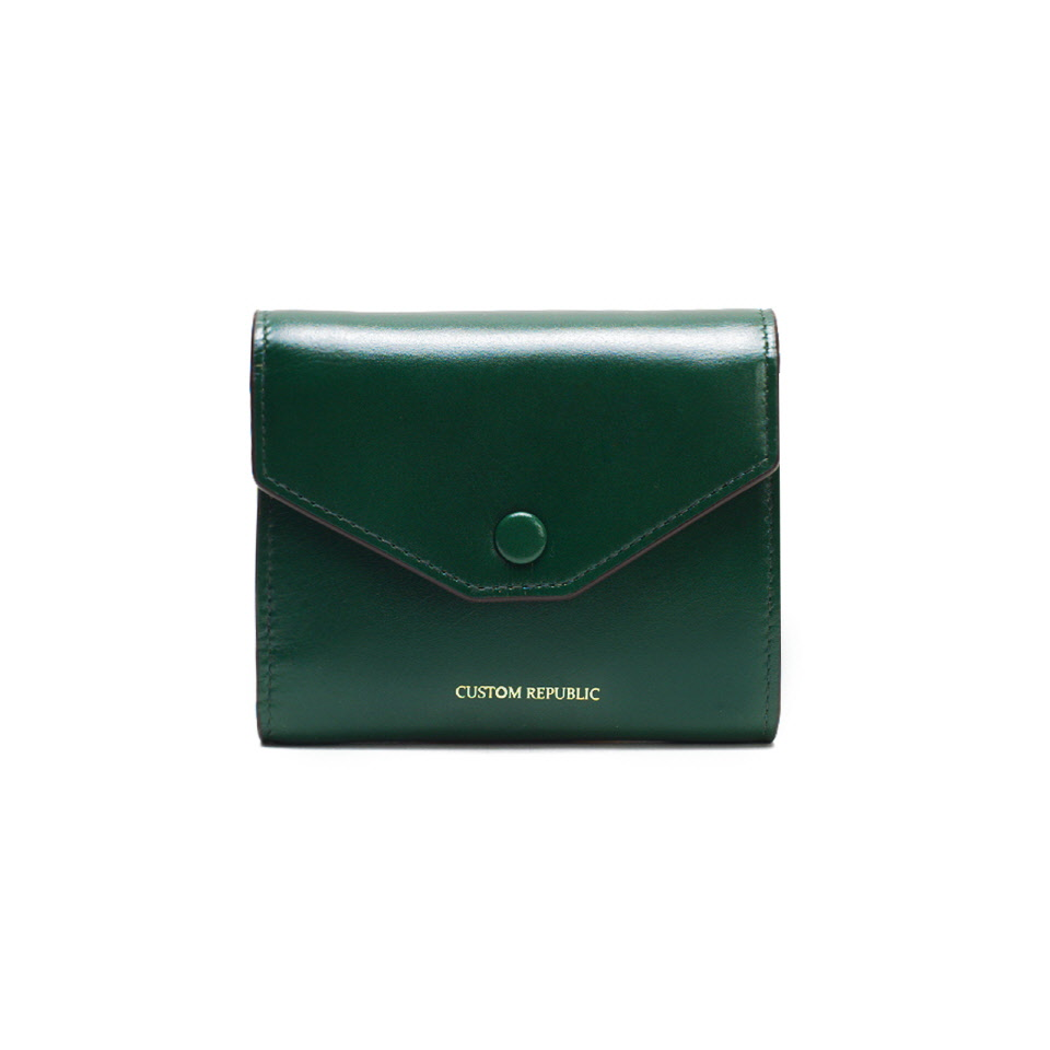 THREE FOLD WALLET LOWELL SECONDO BRITISH GREEN