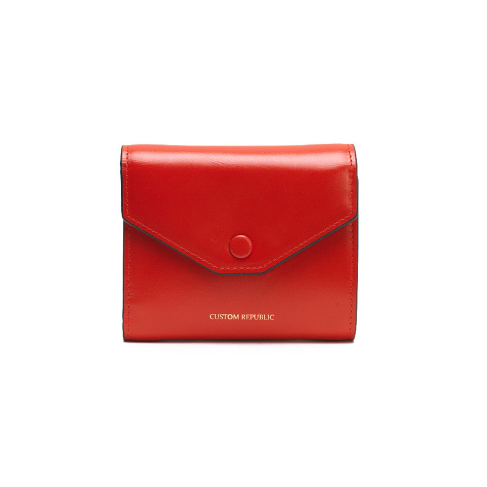 THREE FOLD WALLET LOWELL SECONDO  GRENADINE ORANGE