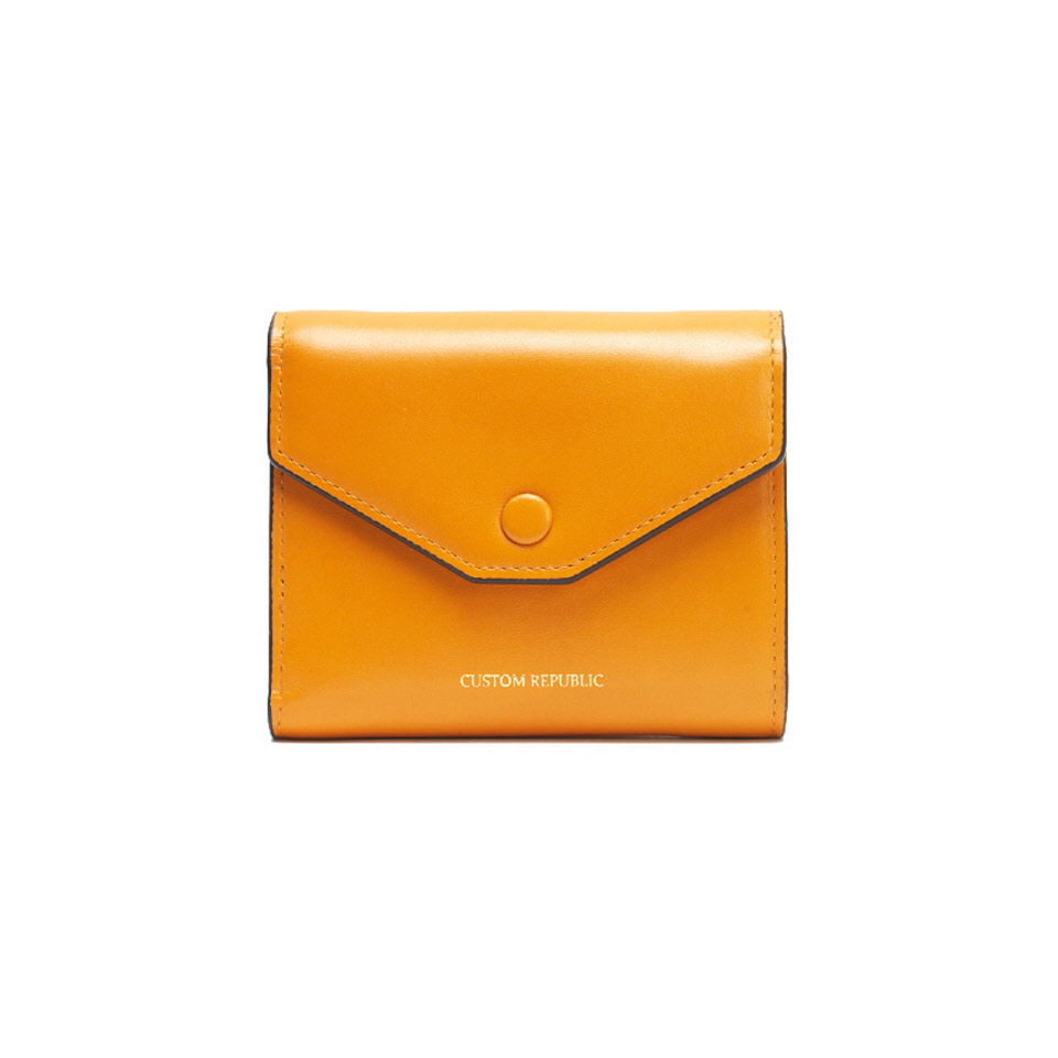 THREE FOLD WALLET LOWELL SECONDO  APRICOT YELLOW